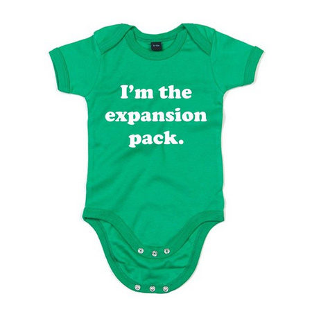 """""""I'm the expansion pack"""" onesie by Baby Grow"""
