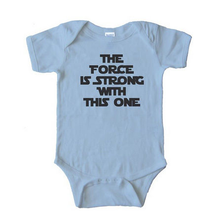 The Force Is Strong with This One Baby Onesie