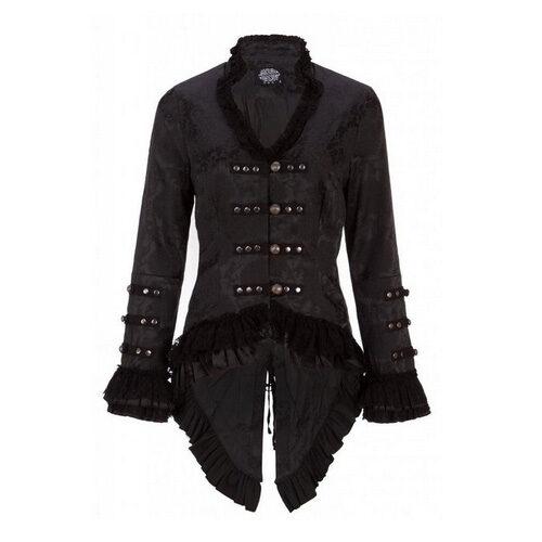 Victorian Brocade Blazer Jacket with Lace