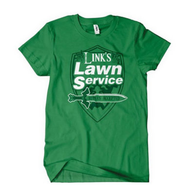 Link's Lawn Service T-Shirt Gaming Retro Funny Zelda Tee
