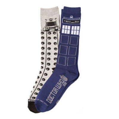Doctor Who Tardis Dalek 2 Pack Socks
