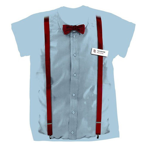 Doctor Who 11th Doctor Braces and Name Tag Shirt