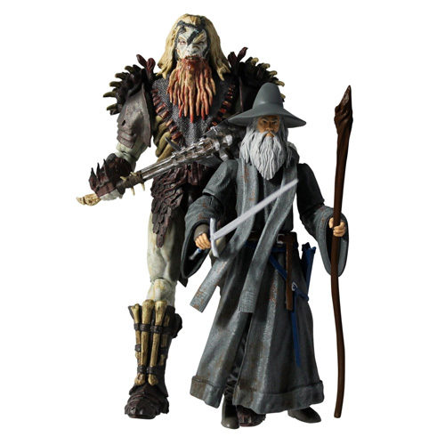 The Hobbit Bolg and Gandalf Figures