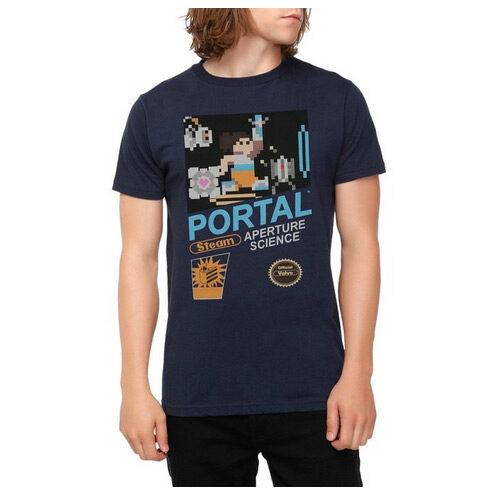 Portal Pixel Adventure Slim-Fit T-Shirt