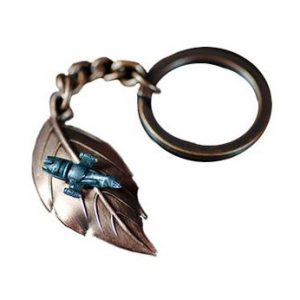 Leaf on The Wind Firefly Keychain Pendant