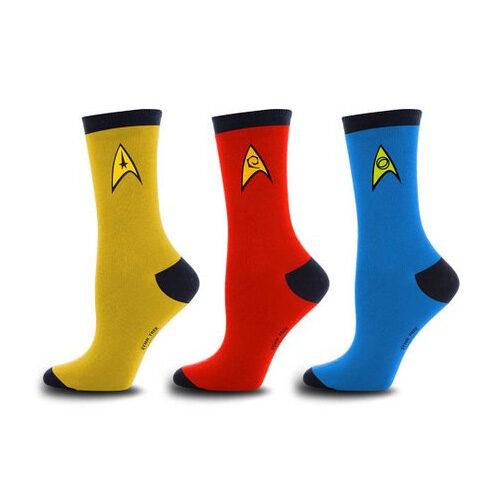 Star Trek Uniform Socks Set Of 3 Pairs