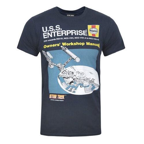 Official Haynes Manual Star Trek Enterprise Men's T-Shirt