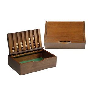 Wood Captain's Mistress Game (4-in-a-Row)