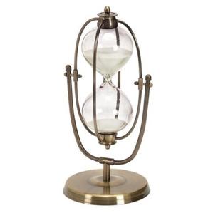 Benzara Benzara 6H in. 30 Minutes Hourglass, Brass, Glass