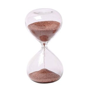 G.W. Schleidt STC10-DR 4-Inch 5-Minute Glass Sand Timer with Deep Red Sand