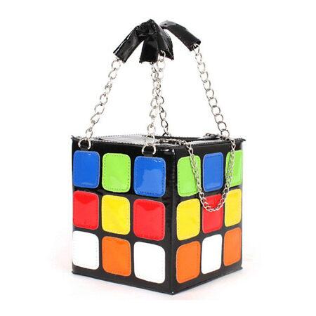 Rubik's Cube Leather Tote Bag