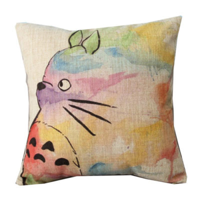 Hand Painted Totoro Pillow Case