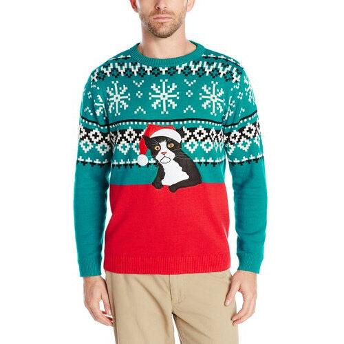 Fairisle Kitty Ugly Christmas Sweater