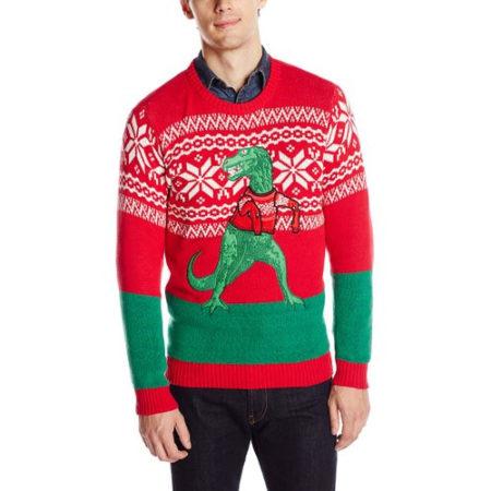 Trex Dinosaur Christmas Sweater