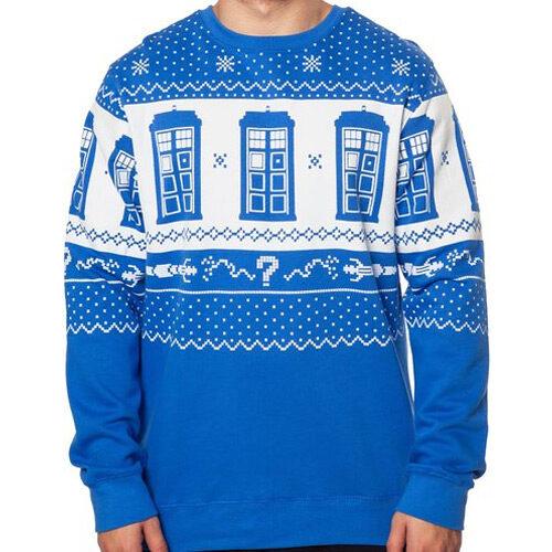 Tardis Doctor Who Christmas Sweater