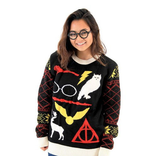 Harry Potter Deathly Hallows Ugly Christmas Sweater
