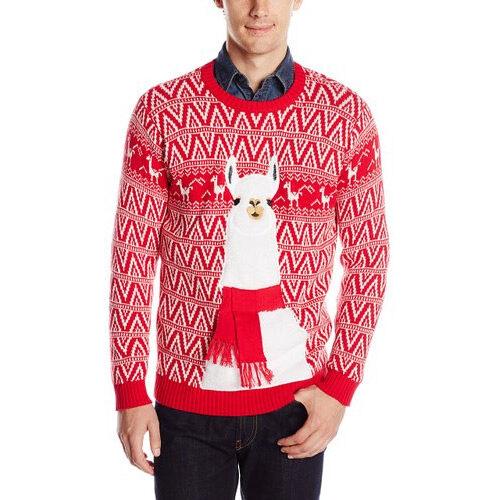 Festive Llama Christmas Sweater