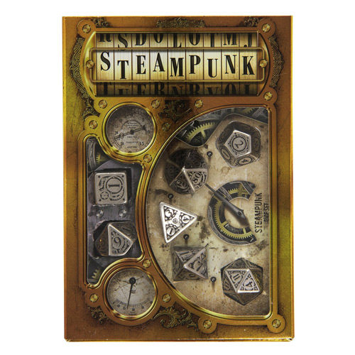 Metallic Steampunk 7 Set Dice