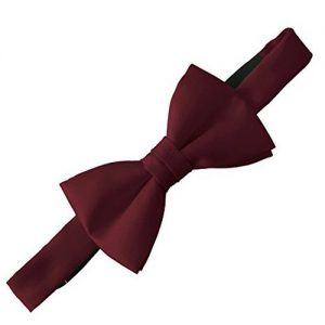 Doctor Who Style 100% Satin Burgundy Bow Tie