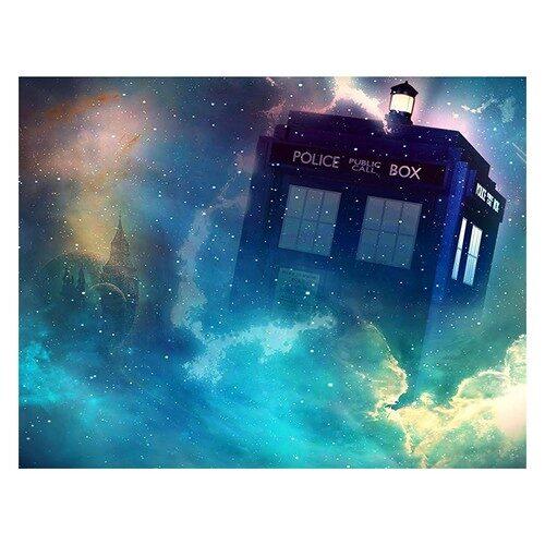 Doctor Who Tardis Edible Image Photo Cake Topper