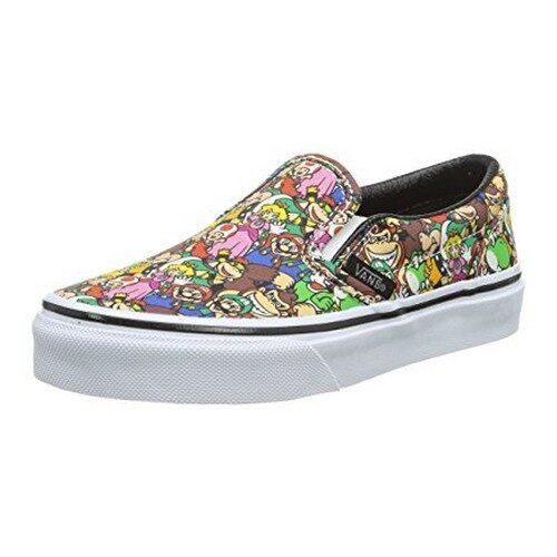 Mario Bros Classic Slip-On Skateboarding Shoes