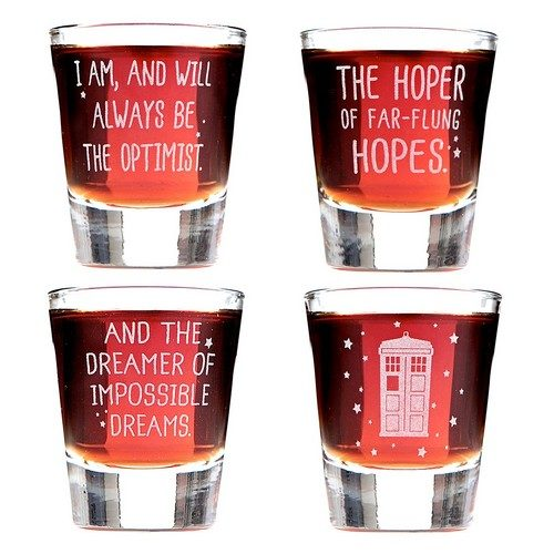 Set of 4 Shot Glasses Inspired By the Twelfth Doctor Who