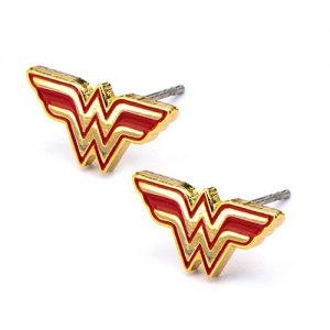 DC Comics Womens Wonder Woman Stud Earrings