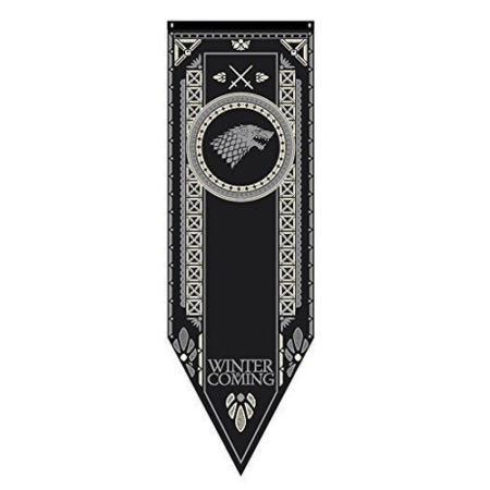 Game of Thrones House Stark Tournament Banner 19 x 60 in