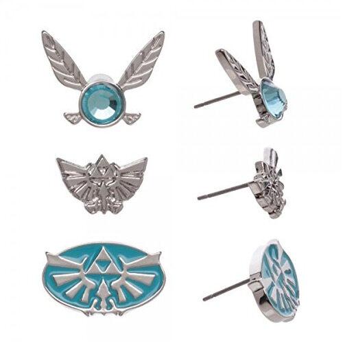 Nintendo The Legend of Zelda Triforce Navi Fairy Earrings 3 Pack Set