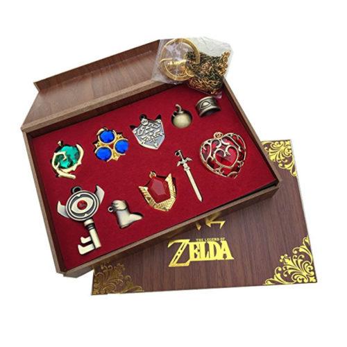 Legend of Zelda Set (Keychain Necklace Jewelry)