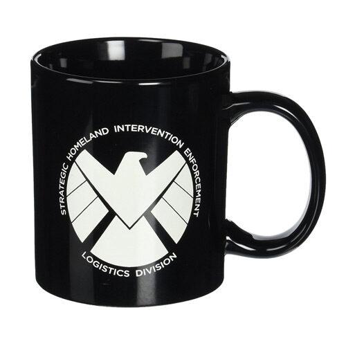Agents of SHIELD 20oz. Black Ceramic Coffee Mug