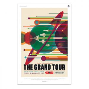 The Grand Tour - NASA JPL Space Tourism Travel Poster