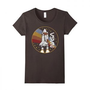 NASA Shuttle Launch With Rainbow Graphic T-Shirt
