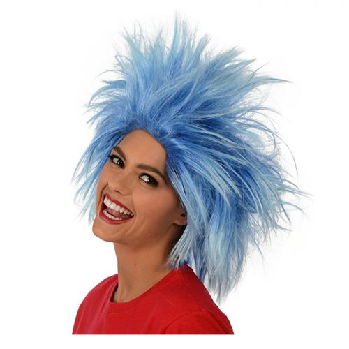 Kangaroo's Funky Spiky Blue Wig; Costume Wig