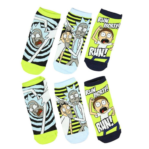 Rick And Morty Portal 3 Pack Ankle Socks
