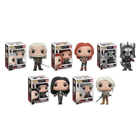 Pop! The Witcher Geralt, Triss, Eredin, Yennefer, Ciri Vinyl Figures Set of 5