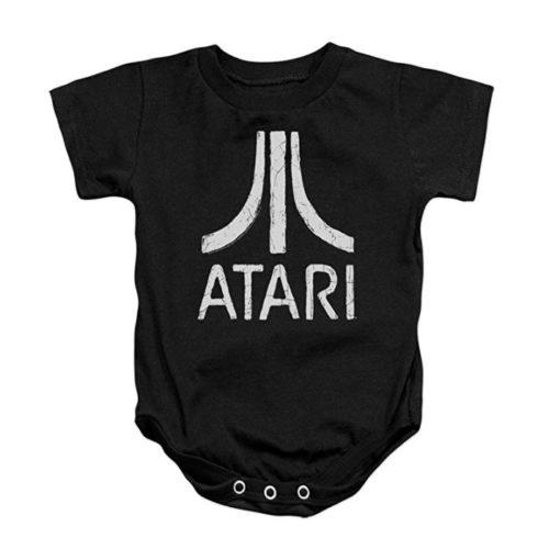 Atari Rough Logo Bodysuit Onesie Black