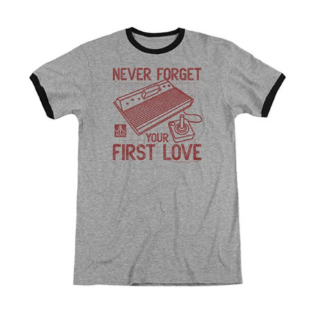 Atari First Love Adult Heather Ringer Shirt