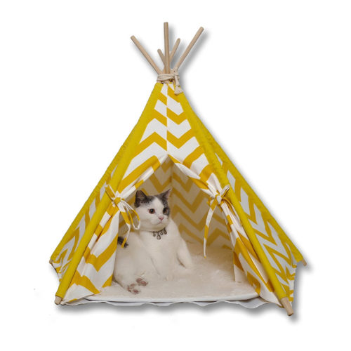 Pet Teepee Dog & Cat Bed - Portable Pet Tent