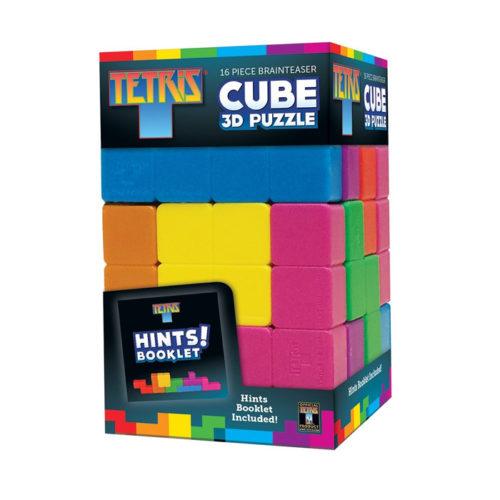 Tetris Brainteaser Cube 3D Puzzle, 16-Pieces