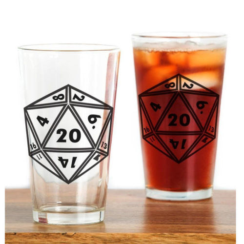 D20 - Pint Glass, 16 oz. Drinking Glass