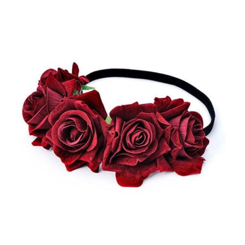 Dia de los Muertos Flower Crown Headband