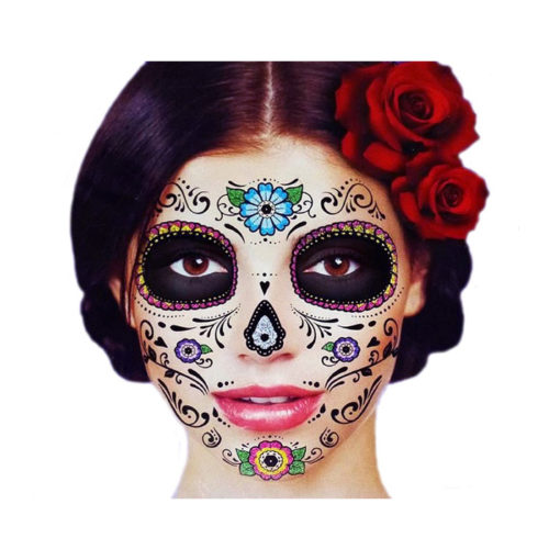 Day of the Dead Sugar Skull Temporary Face Tattoo Kit