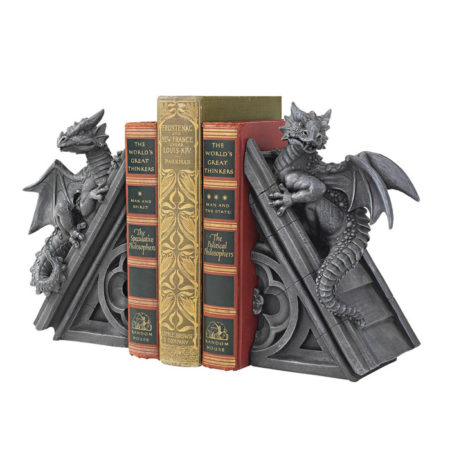Toscano Gothic Castle Dragons Sculptural Bookends