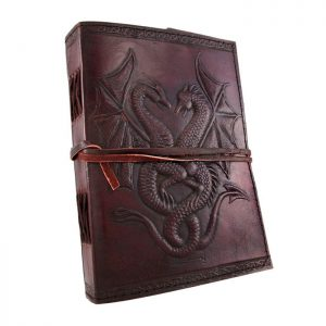 Embossed Leather Dual Dragons 120 Leaf Journal