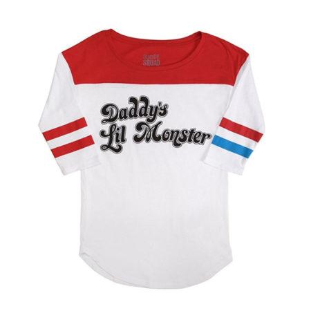 Suicide Squad Harley Quinn Daddy's Lil Monster Raglan