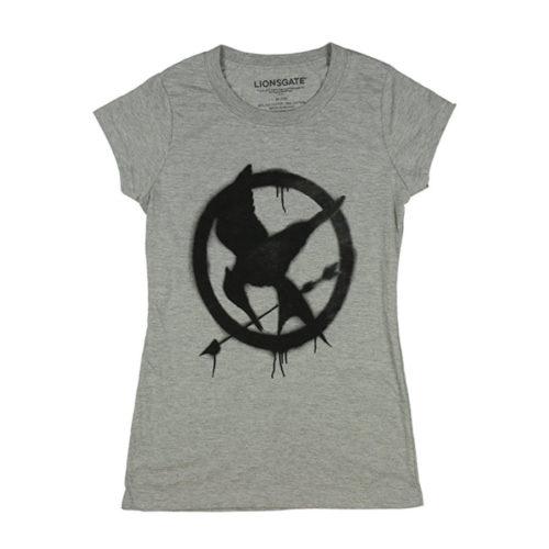 Hunger Games Mockingjay Graffiti Logo T-Shirt