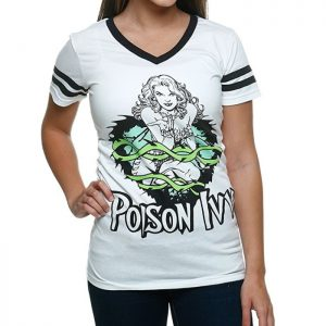 DC Comics Girls' Poison Ivy V-neck Short Sleeve Shirt