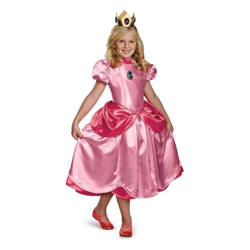 Super Mario Bros Princess Peach Girls Costume