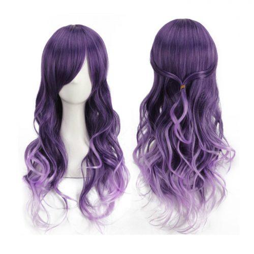 Harajuku Cosplay Purple Gradient Long Curly Hair Wig